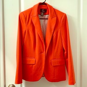 Orange coral suit blazer or jacket